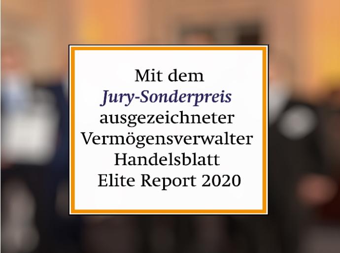 Private Banking auch vom Handelsblatt Elitereport 2020 ausgezeichnet